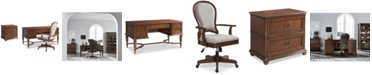 Furniture Clinton Hill Cherry Home Office Furniture, 3-Pc. Set (Writing Desk, Lateral File Cabinet & Upholstered Desk Chair), Created for Macy's