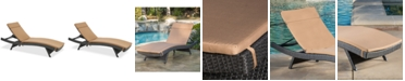 Noble House Malibu Outdoor Chaise Lounge
