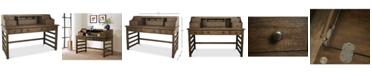 Furniture Ridgeway Home Office Leg Desk With Hutch