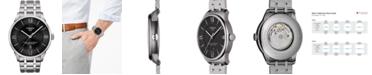Tissot Men's Swiss Automatic T-Classic Chemin Des Tourelles Powermatic 80 Gray Stainless Steel Bracelet Watch 42mm