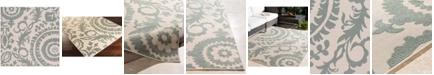 """Surya Alfresco ALF-9614 Sage 7'3"""" Square Area Rug, Indoor/Outdoor"""