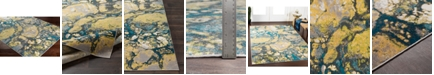 """Abbie & Allie Rugs Rafetus ETS-2327 Butter 18"""" Area Rug Swatch"""