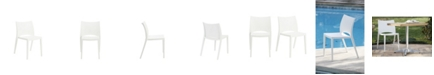 Euro Style Leslie Stacking Side Chair - Set Of 2