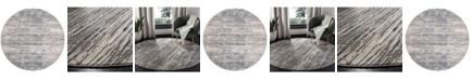 "Safavieh Meadow Gray and Light Gray 6'7"" x 6'7"" Round Area Rug"