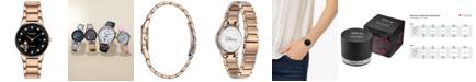 Citizen Eco-Drive Women's Mickey Mouse Diamond-Accent Rose Gold-Tone Bracelet Watch 29.5mm