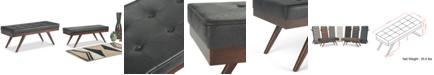 Simpli Home Pierce Mid Century Ottoman Bench