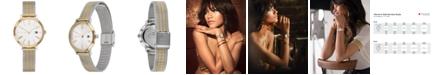 Tommy Hilfiger Women's Zendaya Two-Tone Striped Mesh Bracelet Watch 28mm