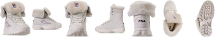 Fila Women's Disruptor Shearling Sneaker Boots from Finish Line
