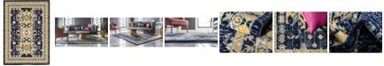 Bridgeport Home Charvi Chr1 Navy Blue 7' x 10' Area Rug