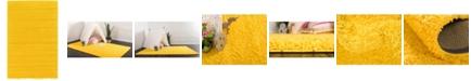 Bridgeport Home Exact Shag Exs1 Tuscan Sun Yellow 5' x 8' Area Rug