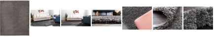 "Bridgeport Home Exact Shag Exs1 Graphite Gray 12' x 15' 10"" Area Rug"