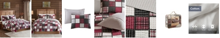 Woolrich Tulsa 3-Pc. Oversized Plaid Print Cotton Reversible Quilt Sets