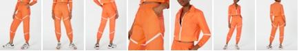 Waisted Zippered Parachute Pants