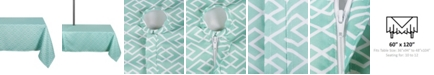"Design Import Diamond Outdoor Tablecloth with Zipper 60"" x 120"""
