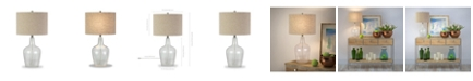 Hudson & Canal Helix Fillable Table Lamp In Watermarked Glass