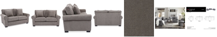 """Furniture Ladlow 65"""" Fabric Loveseat, Created for Macy's"""