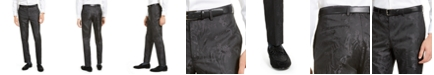 Tallia Men's Charcoal Tonal Animal Print Pants