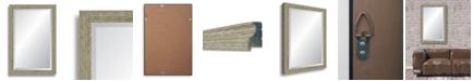 "Reveal Frame & Decor Reveal Barnwood Gray Beveled Wall Mirror - 26.5"" x 40"""