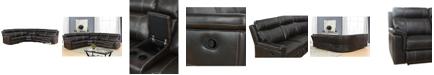 Abbyson Living Teagan 6-Pc Reclining Sectional Sofa w/ Console Table
