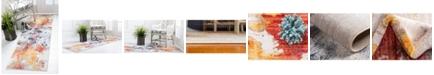 """Jill Zarin West Village Downtown Jzd002 Multi 2'2"""" x 6' Runner Rug"""