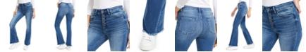 FLYING MONKEY Fray-Hem Flare Bootcut Jeans
