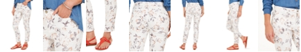 Charter Club Printed Jacquard Bristol Skinny Ankle Jeans, Created for Macy's