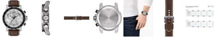 Tissot Men's Swiss T-Sport Supersport Chrono Brown Leather Strap Watch 46mm
