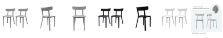 Toppy Long Horn Dining Chair, Set of 2