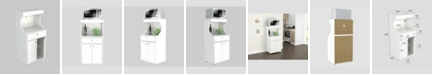 Inval America Galley Kitchen or Microwave Storage Cabinet