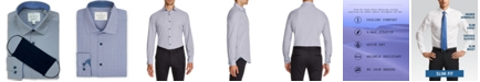 ConStruct Receive a FREE Face Mask with purchase of the Con.Struct Men's Slim-Fit Performance Stretch Cooling Comfort Navy Blue Mini-Geo Print Dress Shirt, Created for Macy's