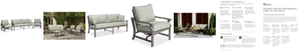 Furniture Tara Aluminum Outdoor 3-Pc. Seating Set (1 Sofa & 2 Rocker Chairs), with Sunbrella® Cushions, Created for Macy's