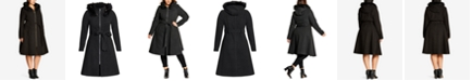 City Chic Trendy Plus Size Miss Mysterious Faux-Fur-Trim Coat