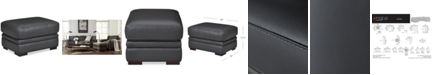 Furniture Avenell Leather Ottoman, Created for Macy's