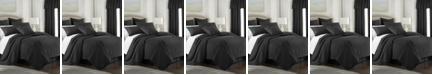 Colcha Linens Cambric Black Comforter-King