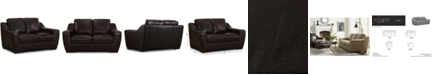 """Furniture CLOSEOUT! Gansey 67"""" Leather Loveseat"""