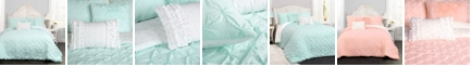 Lush Decor Ravello Pintuck Reversible 4-Piece Twin Comforter Set