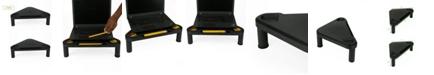 Mind Reader Monitor Stand Riser, 2 Pack, Black