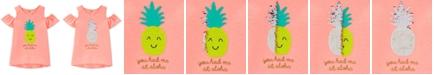 Carter's Little & Big Girls Pineapple Graphic Cold-Shoulder T-Shirt