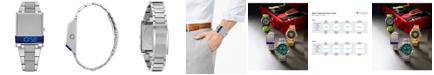 Bulova Men's Digital LED Computron Stainless Steel Bracelet Watch 31.1x40.3mm, Created for Macy's