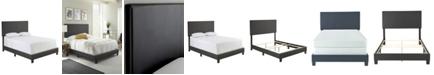 Ultima Carson King Faux Leather Upholstered Platform Bed Frame