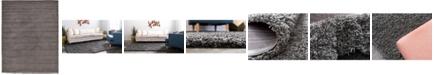 Bridgeport Home Exact Shag Exs1 Graphite Gray 10' x 13' Area Rug