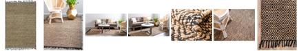 Bridgeport Home Braided Tones Brt3 Natural/Black 4' x 6' Area Rug