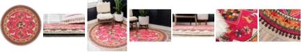 Bridgeport Home CLOSEOUT! Arcata Arc7 Pink 8' x 8' Round Area Rug