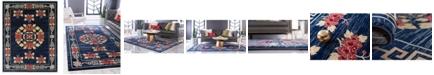 Bridgeport Home Sahil Sah4 Navy Blue 8' x 10' Area Rug