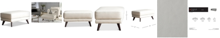 """Furniture CLOSEOUT! Lucais 36"""" Leather Ottoman, Created for Macy's"""