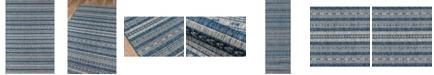 "Novogratz Collection Novogratz Villa Vi-04 Blue 2'7"" x 7'6"" Runner Area Rug"