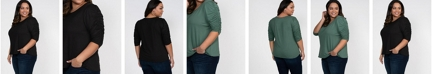 Kiyonna Women's Plus Size Reverie Ruched Top