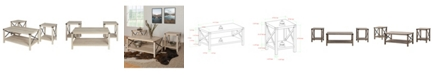 Walker Edison 3 Piece Rustic Wood and Metal Accent Table Set