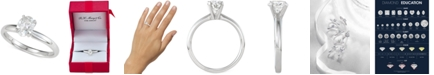 Macy's Diamond Oval Solitaire Engagement Ring (1 ct. t.w.) in 14k White Gold