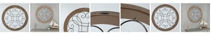Luxen Home Metal Circular Scroll Wall Decor